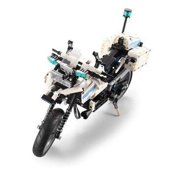 Elektrisches Motorrad Für Kinder | DIY Technik Polizei Motorrad Stadt Elektrische Motor Power Funktion Auto Baustein Spielzeug Für Kinder Geschenk Kompatibel Mit L Marke