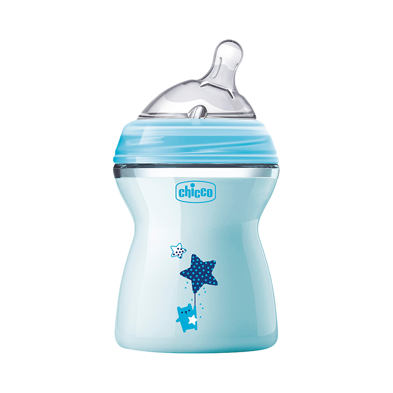 Bottle Chicco Natural Feeling 2 month +, 250ml, Blue feedkid