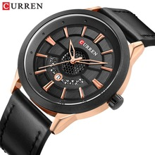 CURREN Mens Watches 2019 Fashion Watch Casual Calendar Wristwatch Leather Clock Male Analog Quartz Relogio Homem
