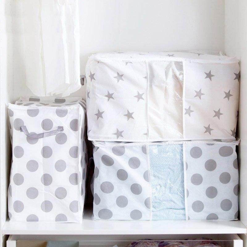 COCODE M/L Size Foldable Storage Bag Clothes Blanket Quilt Closet Sweater  Organizer Box Pouches