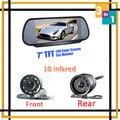 Aparcamiento alta resolución del Monitor 7 del coche con espejo pantalla para cámara de visión trasera forma frontal y cámara de visión nocturna de la cámara infrarrojo