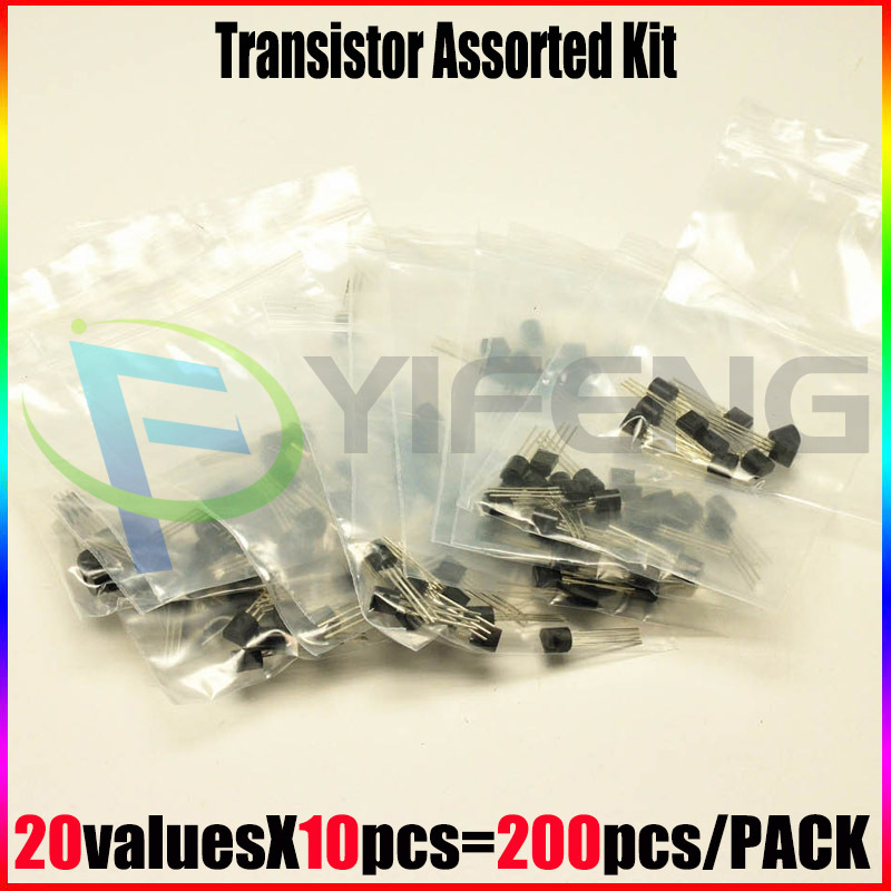NEW TL431 2N2222 78L05 S9012 S9013 S9014 A1015 C1815 S8050 S8550,TO-92 20valuesX10pcs=200pcs,,Transistor Assorted Kit