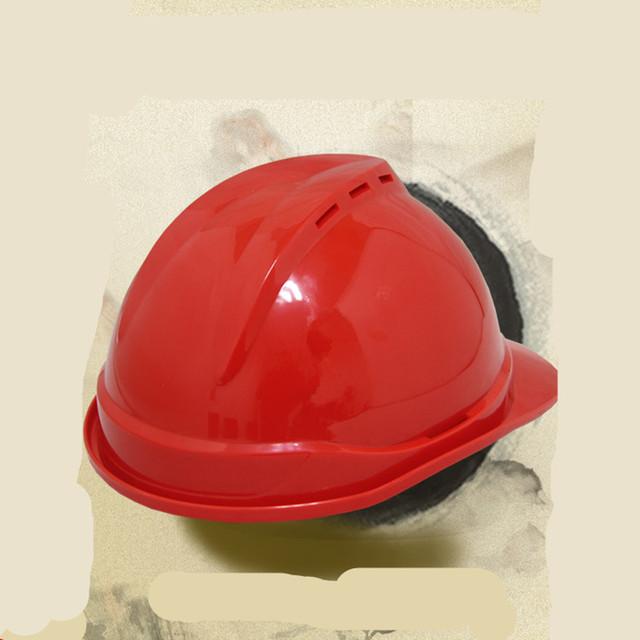 Canteiro de obras de construção de luxo anti-esmagamento plástico de alta-intensidade de trabalho seguro capacetes cap