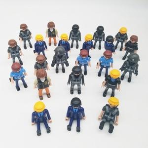 Image 5 - Playmobil 7cm exército polícia militar, figura de ação, modelo, moc, brinquedos, presente para crianças, estilo aleatório para venda x046
