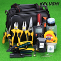 KELUSHI 30 in 1 Fiber Optic FTTH Tool Kit HS-30 Cleaver/Power Meter/10mW Visual Fault Locator/Kevlar Scissors/Cutting Guider