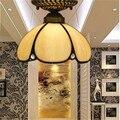 Tiffany lâmpada do teto, americano, Europeu Barroco, Med, Bohemia tiffany luz de montagem em superfície, 20 cm Girassol lampTFC-013-20CM ceil