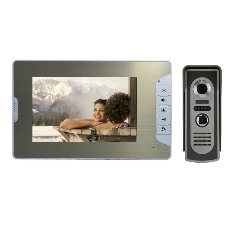 (1 Set) HD 700TV Line One To One Color Video Door Phone Intercom Doorbell System IR Camera Monitor Speakerphone Intercom Golden