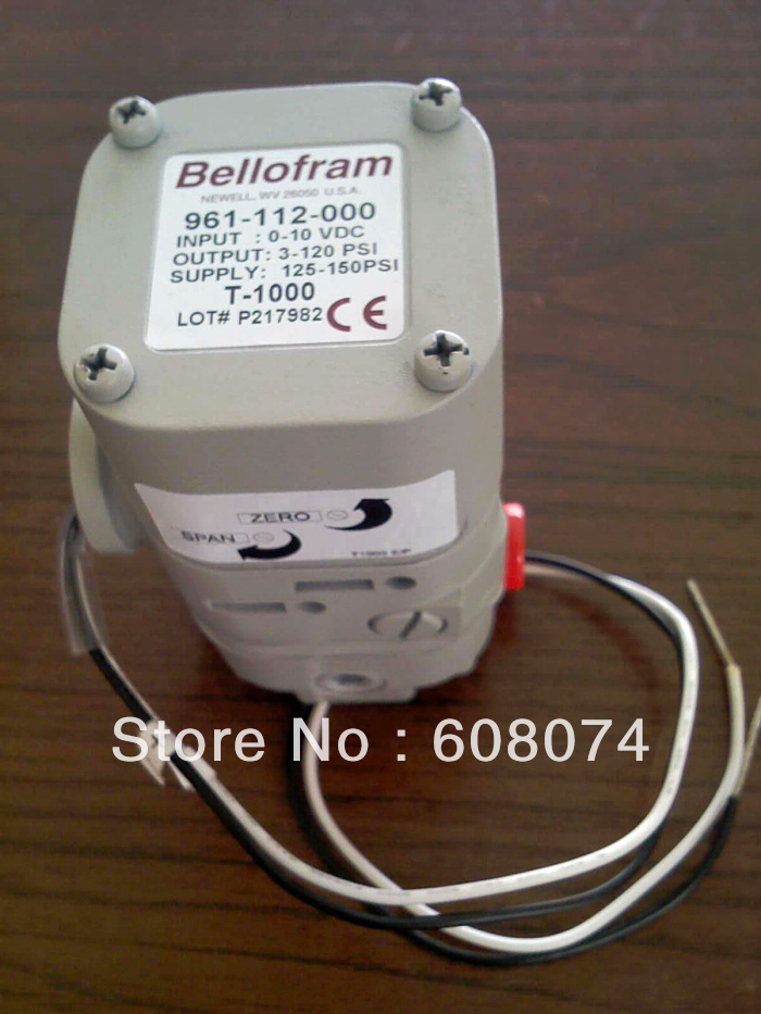 Marsh Bellofram Type 1000 Transducer 961-070-000  4-20mA  NPT1/4  3~15PSI marsh marsh man