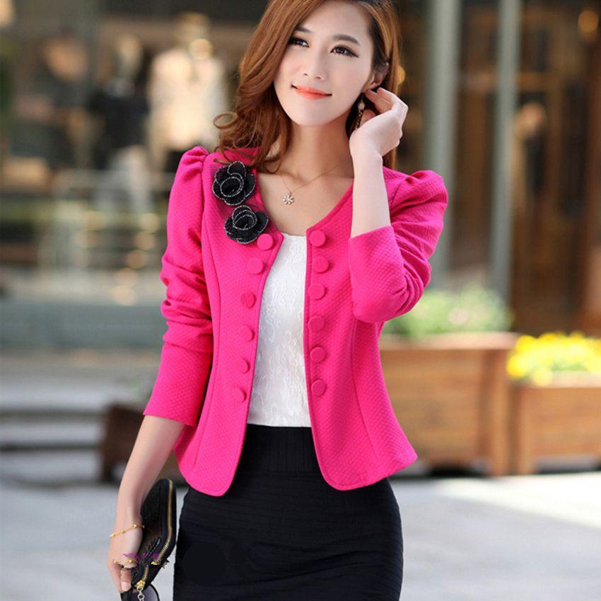 Oficina Black Primavera 2019 white Las Superior De Floral Otoño rose  Chaqueta Vestir Prendas pink Cubierto Exteriores Elegante Moda Nuevo  Chaquetas Trajes ... ec9c56868ab8