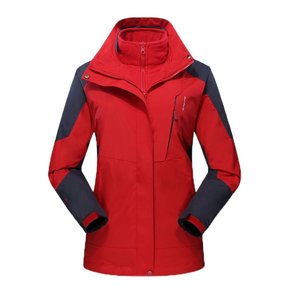 L-5XL Men Women Winter Inner Fleece Jacket Waterproof Outdoor Sport Warm Coat Hiking Camping Hiking Skiing Jackets windproof