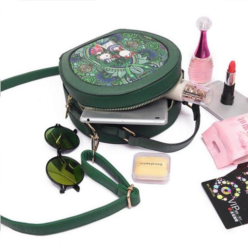 mulheres designer de couro pu Color : Green