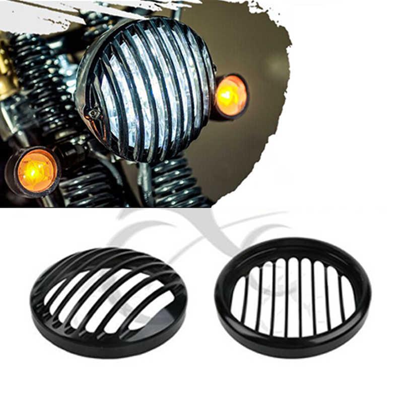 """5.75 """"5 3/4"""" CNC Led grill reflektorów pokrywa dla Harley Davidson Sportster XL 883 żelaza 1200 04-14 niestandardowe XL1200C 1200 motocykl"""