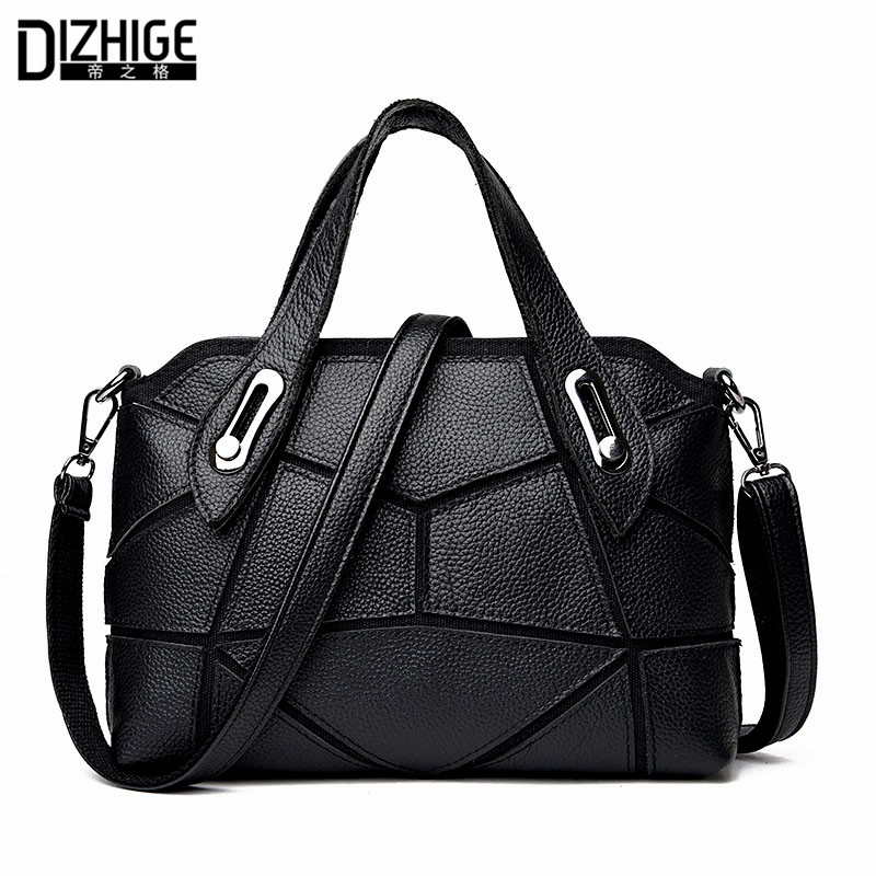 ФОТО 2017 New Patchwork Genuine Leather Bag Women Brand Luxury Designer Cowhide Handbags High Quality Messenger Woman Bag Crossbody