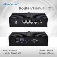 Qotom Q355G4 Fanless Mini PC Broadwell Core I5 5250U HD Graphics HD Video VGA Pocket PC