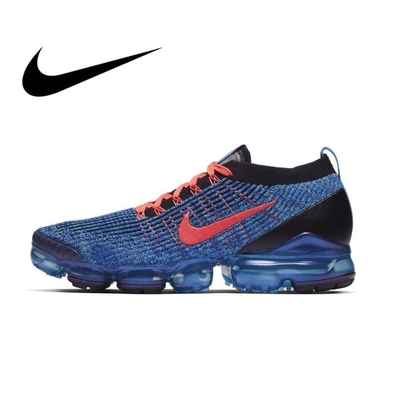 Original Autêntica Nike AIR VAPORMAX 3 FLYKNIT Tênis de Corrida dos homens Clássico Esportes Ao Ar Livre Sapatos Respirável Conforto AJ6900-401