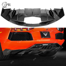 Carbon Fiber Rear Diffuser For Lamborghini Aventador LP700 OEM Style Rear Diffuser Lip Body Kits Tuning Trim For Aventador LP700 цена