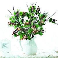 Bacche di Frutta a Bacca Fiore Artificiale Fiori Di Seta artificiale Fiori Frutta Matrimonio Casa Giardino Decorazione Piante Artificiali 2 PZ/LOTTO