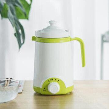 DMWD мини электрический термальный чайник керамический нагреватель воды чашка молочный котел лапша каша тушеный горшок детское питание Мультиварка чайник - Цвет: Зеленый