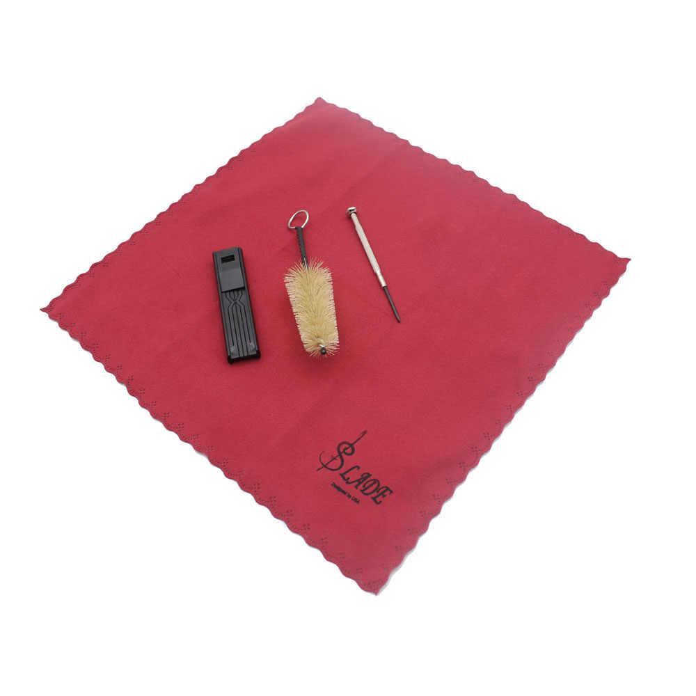 חדש 5-in-1 ניקוי ערכת ניקוי בד מברשת שופר ריד מקרה מיני מברג עבור קלרינט סקסופון חליל