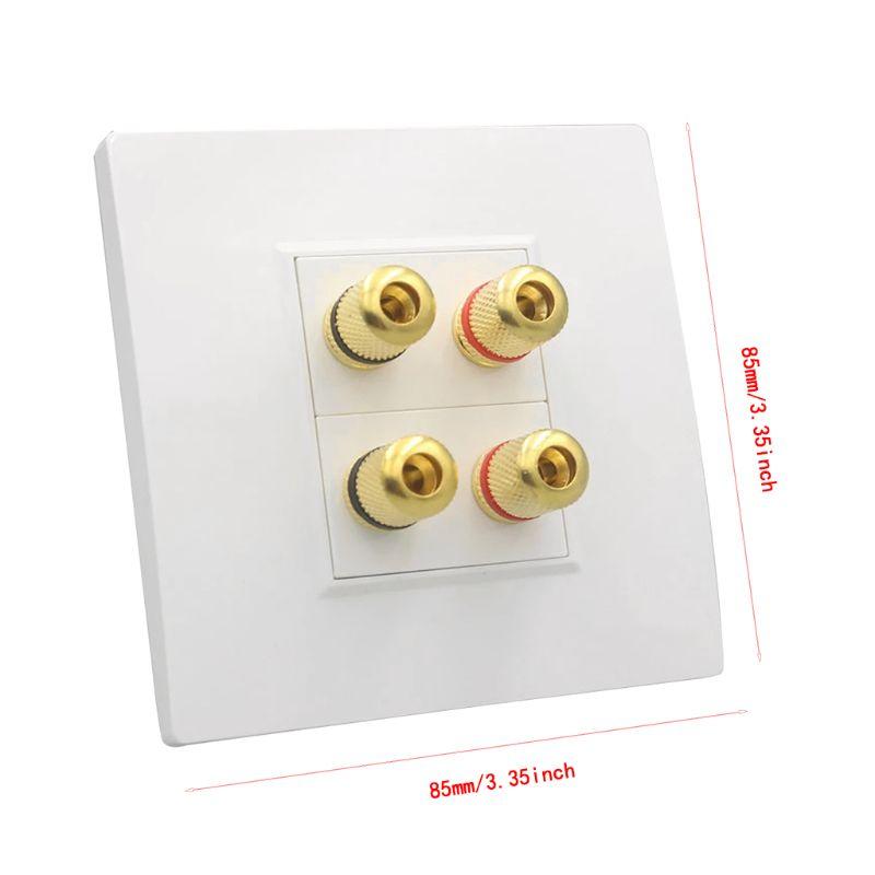 2PCS BINDING POST BOX Audio Speaker Terminal Banana Plug Socket Board DIY HiFi