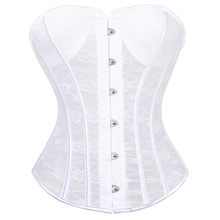 df2d93afd8 New Women s Corset Lace up Sexy Overbust Bustier White Black Waist Cincher  Gotico Panty Bridal Wedding Lingerie Erotic Tops red