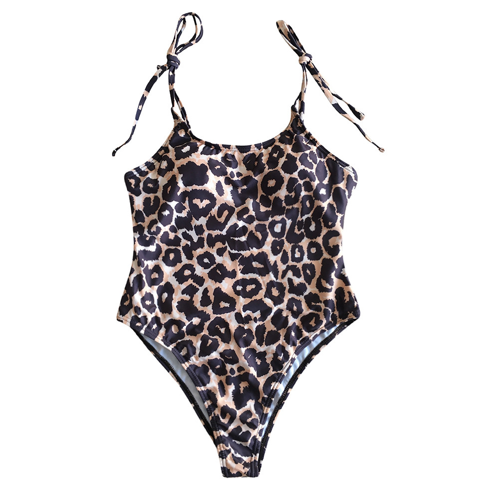 2019 New One-piece Swimsuit Women O Neck Thong Bikini Monokini Swimsuit Swimwear Summer Beachwear Bathing Suit Biquini #32