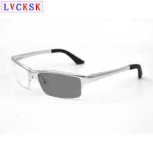 Photochromic Lens Sunglasses Myopia Reading Glasses Magnifier Presbyopia Spectacles Nearsighted Eyeglasses Sight -6.0 to +3.0 L3