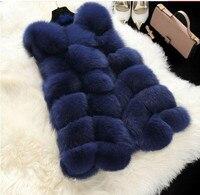 Faux Fur Coat Winter Women New Fashion Casual Warm Slim Sleeveless Faux Fox Fur Vest Winter Jacket Women Casaco Feminino J2576