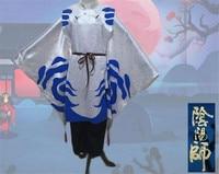 2017 Onmyoji Taitengu Cosplay תלבושות אנימה חמה חדשה כחול לבן חליפת שמלה + מכנסיים D