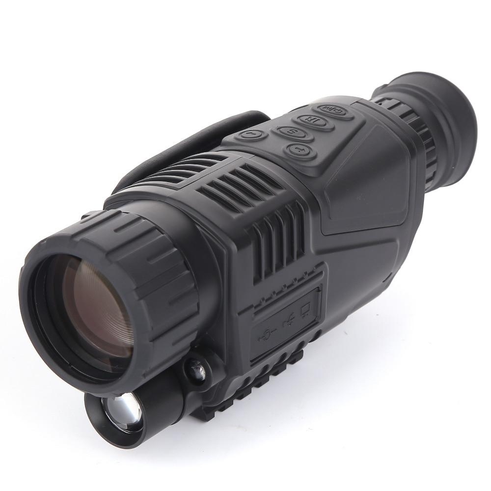 HOT CCD Infrared digital  Night vision monocular scope 5x40 for 200Meter 5X Zoom 5MP digital night vision camera  video in  CCD! yunok sentinel 2 5x50 night vision riflescopes generation 1 infrared illuminator monocular hunting rifle scope tube based