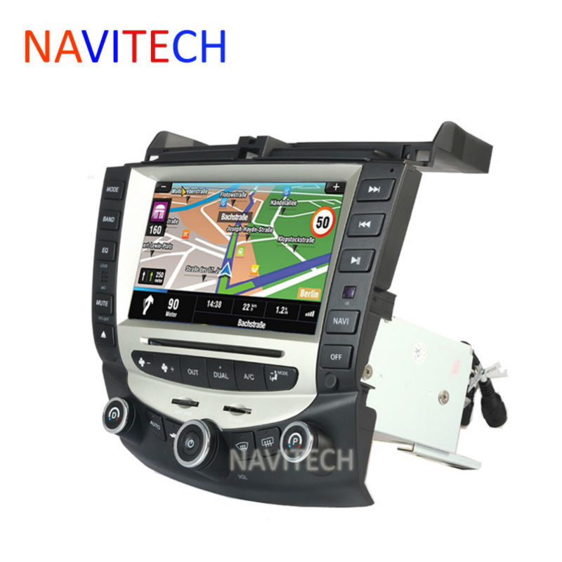 imágenes para Reproductor de dvd del coche de navegación gps para honda accord 7 2003-2007 EURO car Stereo Radio de doble/Sola Zona Control de clima