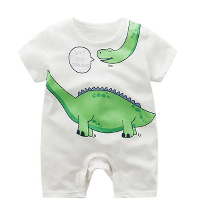 Baby Short Sleeve One-piece Dress Cotton Rompers Baby Summer Sleep 2 Romper 6 Newborn Infant 3 Months 0-1 Year Summer Cloth