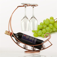 アンティークメタルブラック/ブロンズメタルワインボトルシャンパン収納ホル