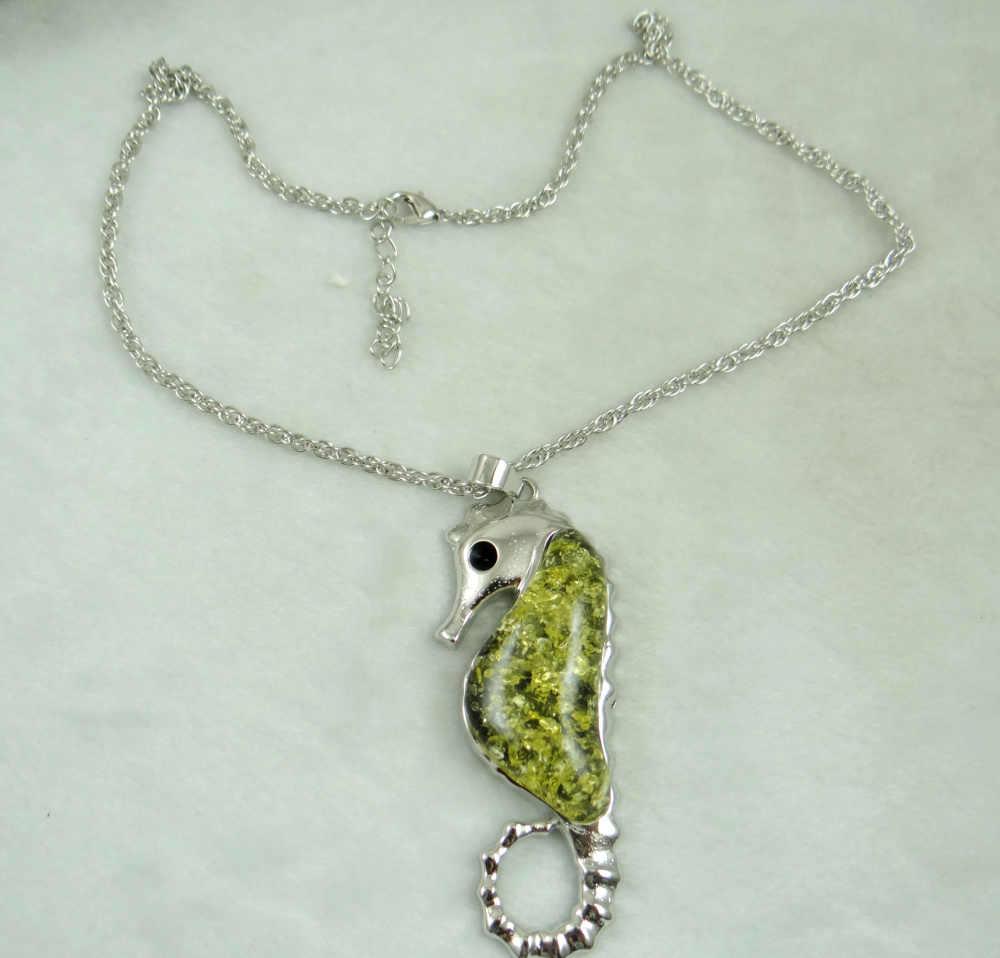 Nowe mody cenny modernistycznych teardrop złoty miód wciśnięty Ambers wisiorek naszyjnik biżuteria dokonywanie A40