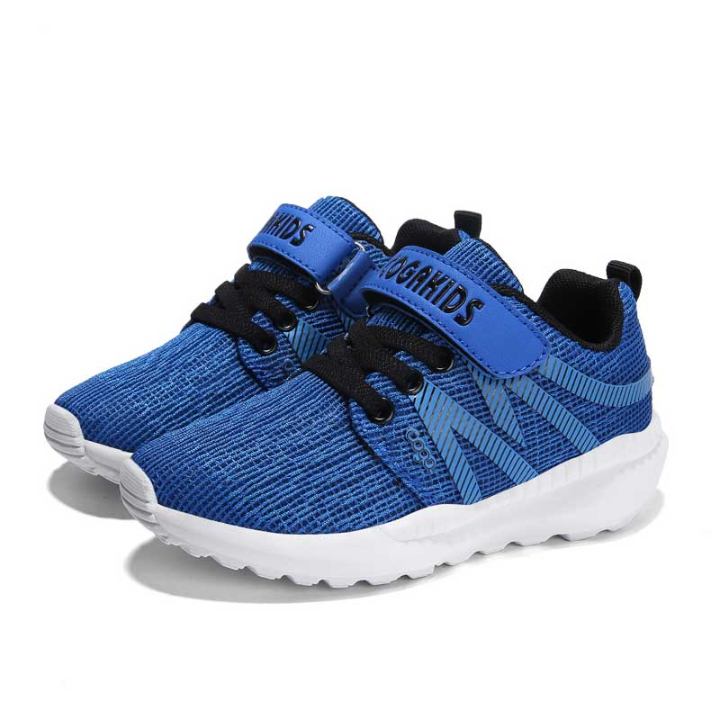Spring Kids Mesh Shoes Soft Breathable Children Casual Shoes Size 26-40 Boys Girls Sports Tennis Sneakers Black Blue Green