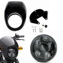 "Motorcycle Accessories 5 3/4 inch Headlight Fairing Front Cowl Fork Mount For Harley Sportster Dyna 5.75"" Motorcycle Headlight"