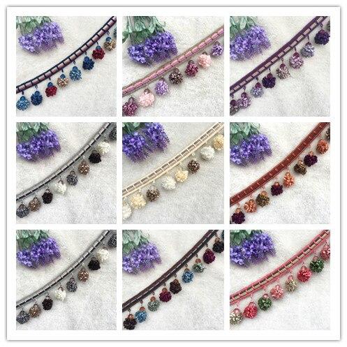 5 m / batch 8 cm long European style new curtains Sui tassel lace decorative accessories decorative sewing handmade textiles