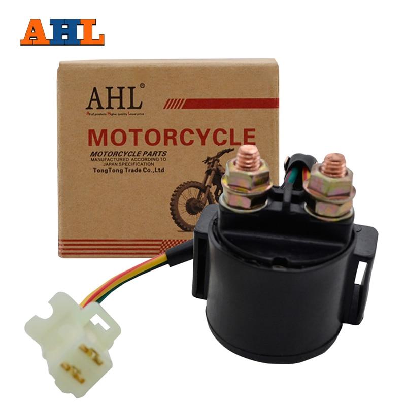 Ahl Motorcycle Starter Relay Solenoid For Yamaha Raptor 80 Yfm80 02-08 Snoscoot Sv80 Snowmobile 88-90 Srx250 Srx 250 87-88 Good For Energy And The Spleen