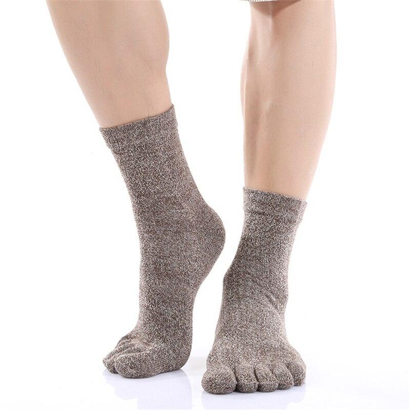Toe Socks Men Solid Health Care Beriberi Factory Outlets Winter Autumn Warm Sock Cotton Health Deodorant Men Fingers Stocking