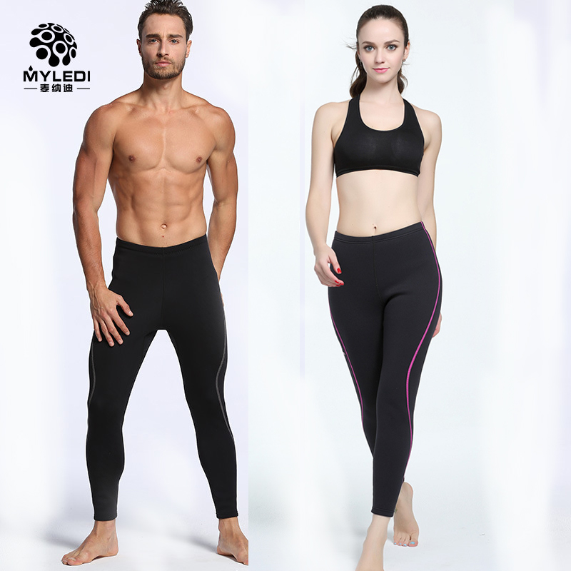 MYLEDI 2mm Neoprene Diving Pants Men Women Wetsuit Super Strech Surfing and Diving Pants Warm Winter Swimming Snorkeling Rowing