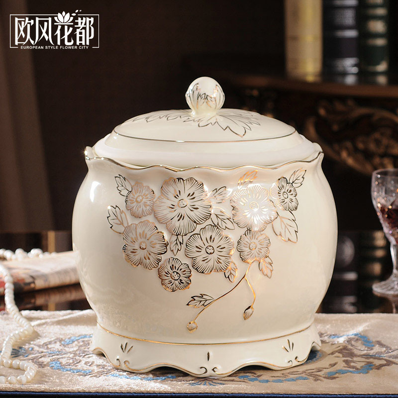 sculpture Miaojin ceramic storage tank Home Furnishing snacks soft decoration living room wine showroom decoration