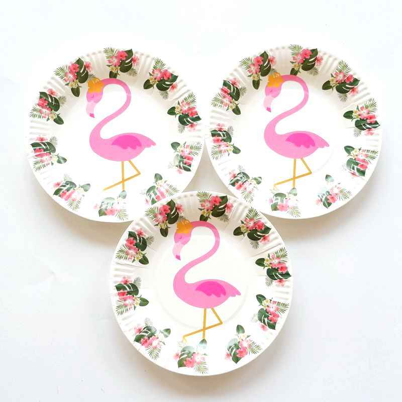 10pcs/lot Cartoon Flamingo Paper Plates Birthday Wedding Party Supplies Decoration Cake Dish Disposable Baby Shower Favors-in Disposable Party Tableware ...  sc 1 st  AliExpress.com & 10pcs/lot Cartoon Flamingo Paper Plates Birthday Wedding Party ...