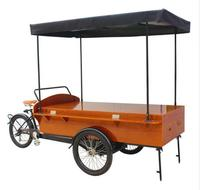 KN T04B Retro Coffee Bike /Hot Food Truck/Fashion Coffee Cart with free shipping by sea