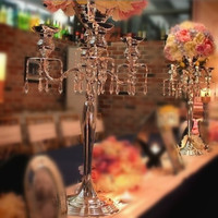 10pcs/lot 68cm(H) Gold or Silver Bling Flower stand wedding table centerpiece wedding candelabras Event Props