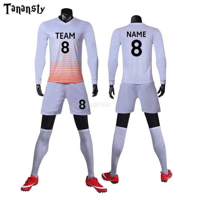 College soccer jerseys men custom football jerseys soccer uniforms youth adult football set long sleeve 2019 2020