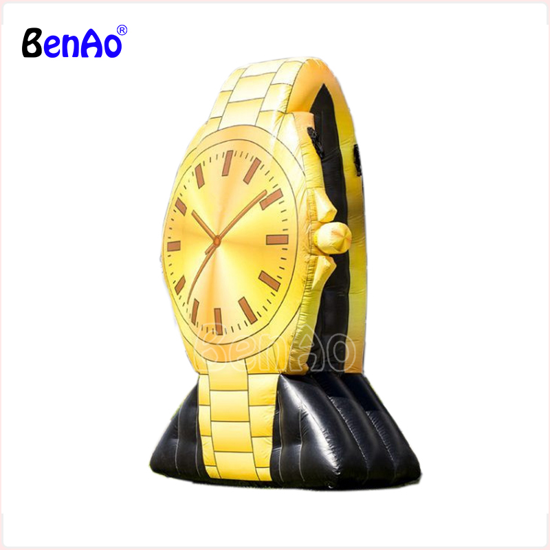 Z783 BenAo Free shipping New design inflatable Golden watch,inflatable advertising replica/inflatable advertising wrist watch ac028 factory price giant inflatable advertising new customized replica product