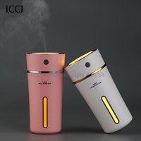Icci USB Humidifier Essential Oil Diffuser Aroma Diffuser Diffuseur Huile Essentiel Oil Diffuser With Led Lamp