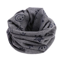 1 pc Cotton Warm Baby Scarf Winter Children Scarves Baby Neck Collars Boys Girls O Ring Scarf Lovely Collars Winter Neckerchief(China)