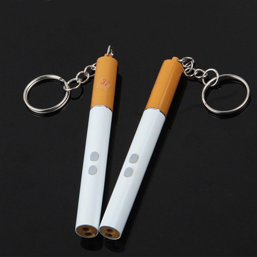 Cigarette 650nm Ballpoint Pen LED Laser Pointer Pen Keychain Pointer Pen Creative Simulation Laser Light Visible Light