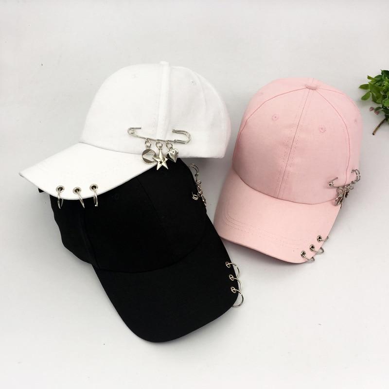 Korea Stylish Rings Snapback   Cap   Male Personality Pin With Pentacle Pendant   Cap   Leisure Shade Hip Hop   Cap   Unisex   Baseball     Cap